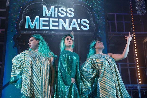 Pinky (Vedi Roy), Miss Meena (Raj Ghatak), Preetho (Harvey Dhadda) - Images by David Fisher - Miss Meena & the Masala Queens.jpg