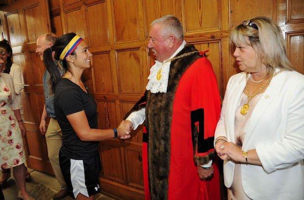 Mayor of Guildford welcomes the Lacrosse teams.jpg