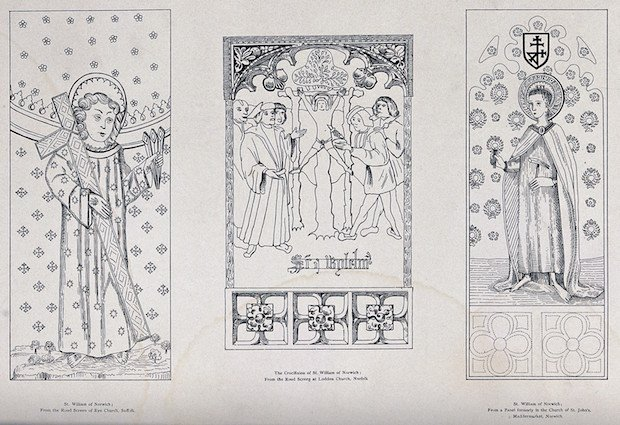 V0033148 Saint William of Norwich. Engraving.