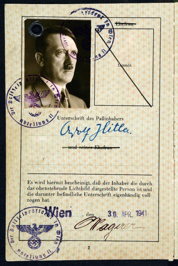 SOE fake passport for Hitler p2