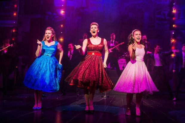Gracie Johnson, Laura Darton & Elizabeth Carter (l-r) in the Dreamboats and Petticoats 2017 UK Tour. Photo by Pamela Raith Photography 059.jpg