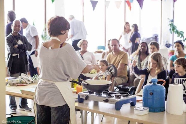 Cookery demo by Photo credit Reccardo Sai. Minestra Supper Club at Foodival 2016  copy.jpg