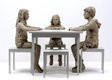 The Dinner Table (Monotone), 2015, Bronze, wood and paint ∏ Sean Henry copy.jpg