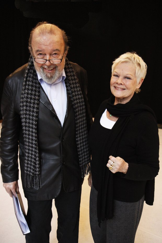 Peter Hall and Judi Dench in rehearsal for A Midsummer Night's Dream at the Rose Theatre 9 feb-20 Mar. Photo by Nobby Clark copy.JPG