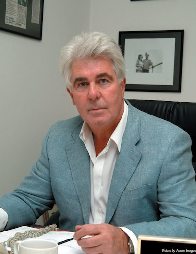 Max Clifford at his desk in 2005
