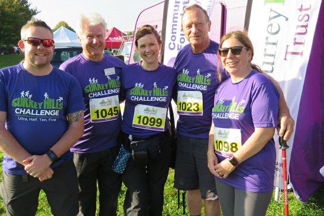 SHS members fund raising for Surrey Hills Trust Fund in Surrey Hills Challenge event at Denbies - Sept 2017 copy.JPG