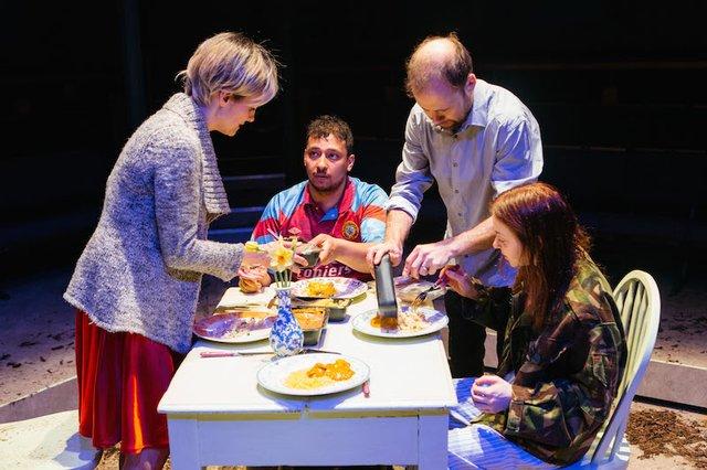 Niky Wardley, Irfan Shamji, Simon Scardifield and Evelyn Hoskins in Mayfly by Joe White_photo by Helen Murray.jpg