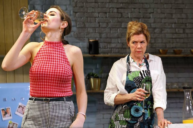 Genevieve Gaunt as Amanda & Janie Dee as Caroline Mortimer in MONOGAMY, credit Simon Annand.jpg
