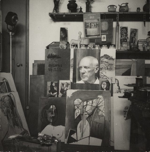 Picasso's Studio Villa La Galloise at Vallauris, 1954, by Lee Miller (c) The National Galleries of Scotland.jpg