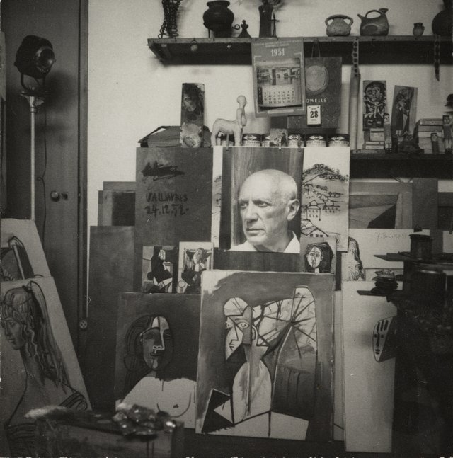 small Picasso's Studio Villa La Galloise at Vallauris, 1954, by Lee Miller (c) The National Galleries of Scotland.jpg