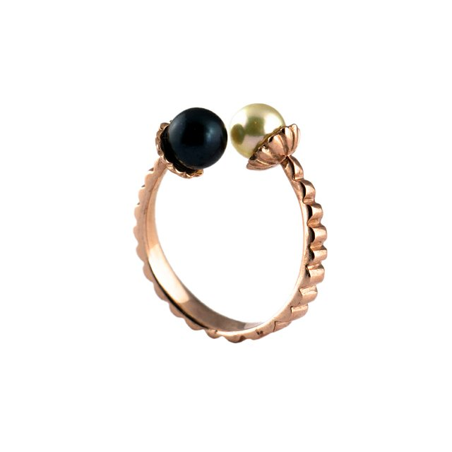 Akvile Cenkyte, Electric Flowers Ring - 9ct Rose Gold with Pearls.jpg