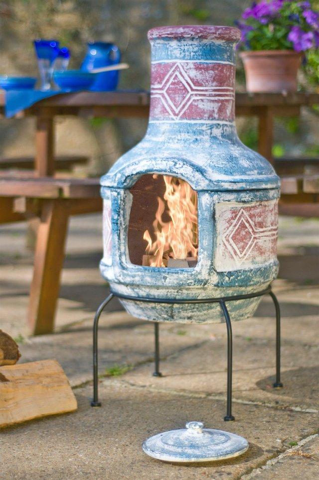 La Hacienda Geometric Two Piece Clay Chimenea - lifestyle copy.jpg