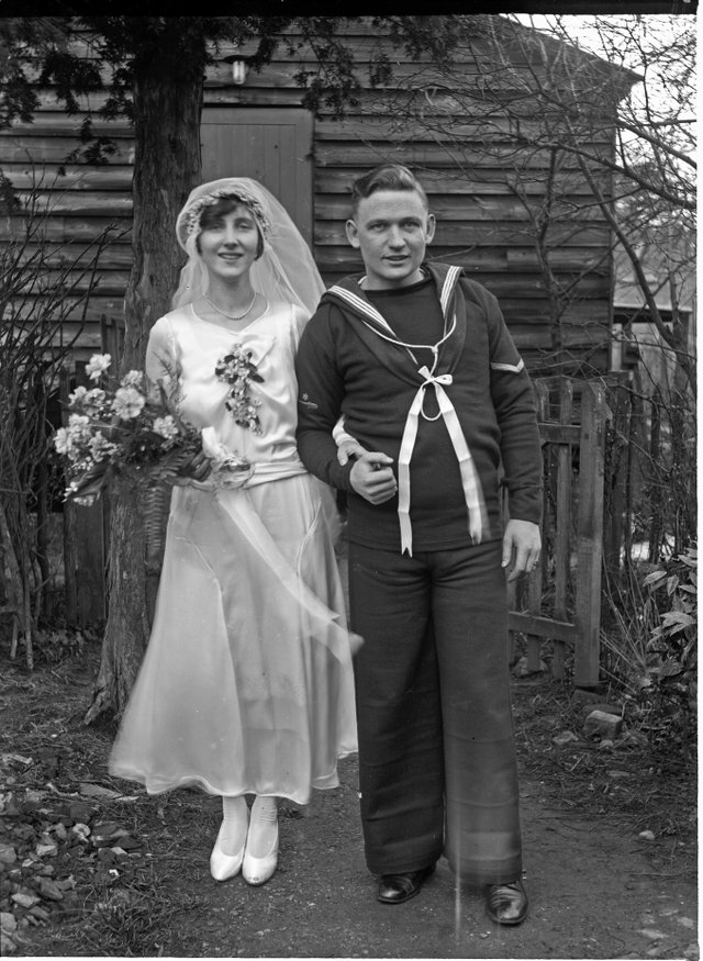 Sidney Francis (1891-1973) Sailor's Wedding, c. 1920s, digital print from a glass plate negative, reproduced by permission of Surrey History Centre (SHC ref 9524).jpg