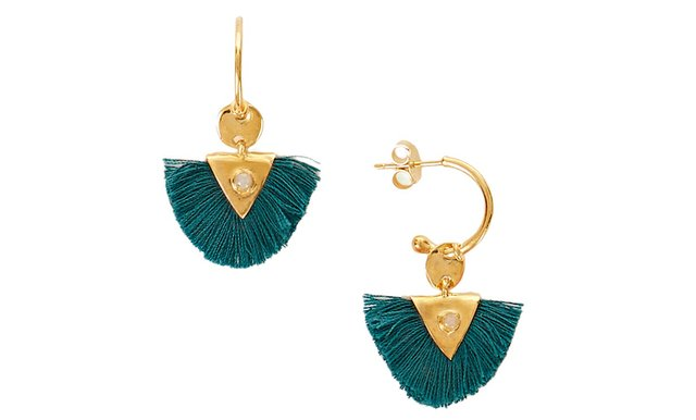 Une a Une @ IRIS green pom pom earrings - £58 copy 2.jpg