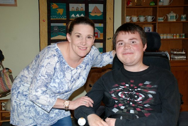 Sam Bailey at Guildford hospice