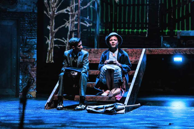 Joshua Fernandes as Bugsy Malone and Jessie Johns as Blousey.jpg