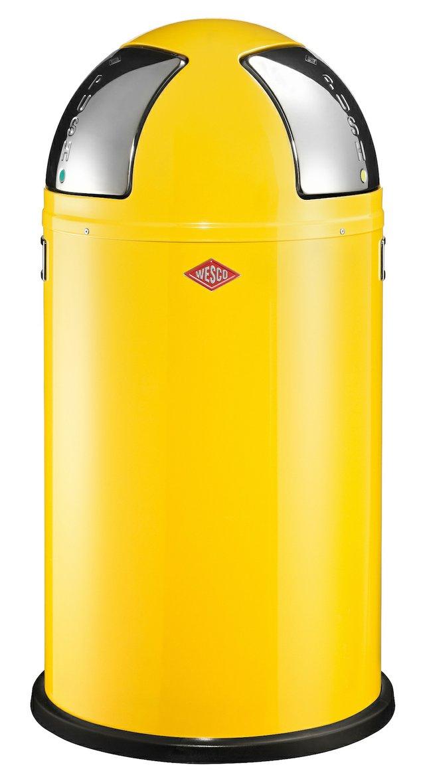 Wesco Push Two Recycling Bin Lemon Yellow 175861-19 copy.jpg