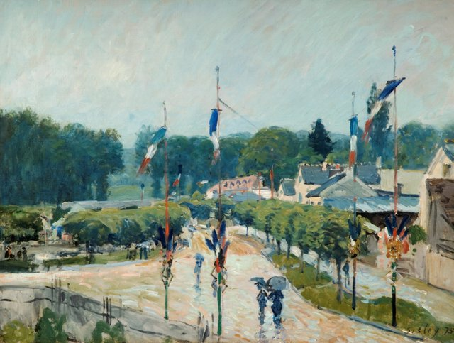 Alfred Sisley (1839–1899) 14 July at Marly, France, 1875 Oil on canvas © The Higgins Art Gallery & Museum, Bedford.jpg