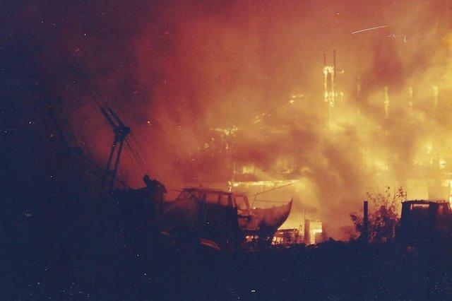 Boatyard on fire 1996 copy.jpg