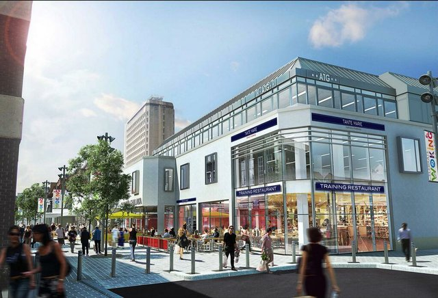 An artist's impression of the new Woking premises