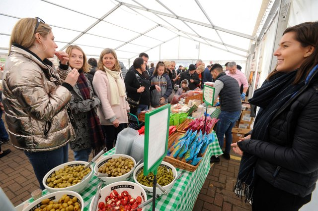 Crowds gathered to sample the delights at the Garsons Christmas Food Fair.jpg