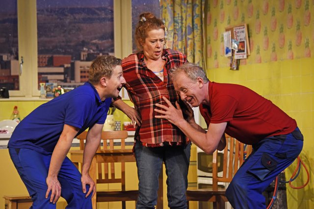 Matt Connor as Lewis, Lisa Howard as Anthea and Steve Huison as Jack - Photo by Nobby Clark ©nc-Don't Pay Won't Pay-133.jpg