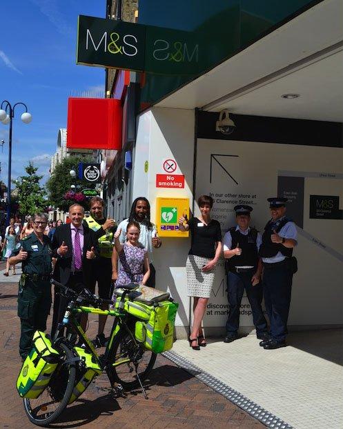 Defibrillator installed in Kingston