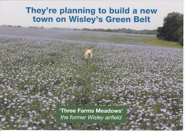 Green Belt land Three Farms Meadows under threat