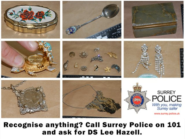 Surrey residents invited to open days to identify recovered stolen items