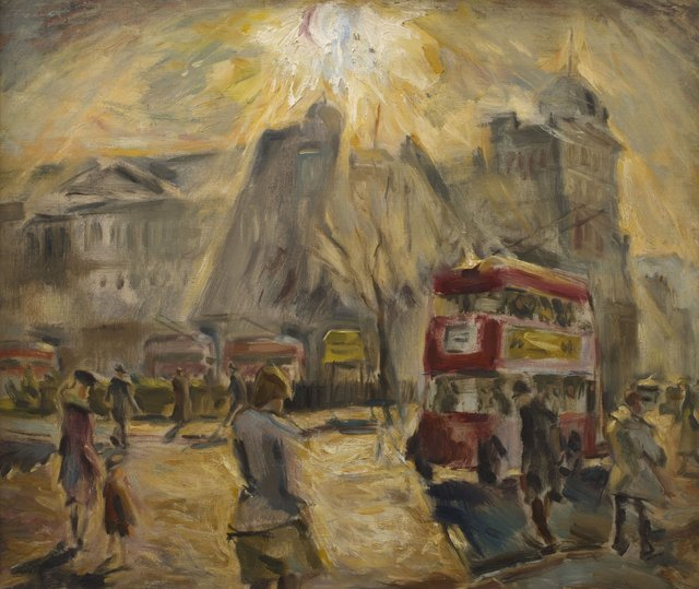 Cyril Mann (1911-1980) Finsbury Square, c. 1948 Oil on canvas © The Artist courtesy of Piano Nobile.jpg