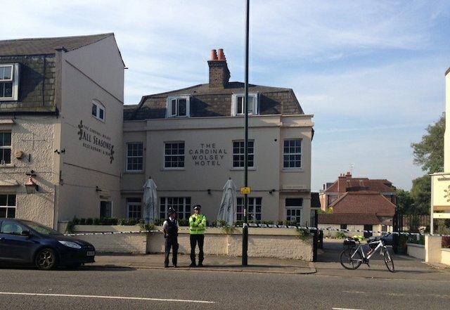 Death outside Cardinal Wolsey pub in Hampton