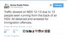surrey roads police tweet