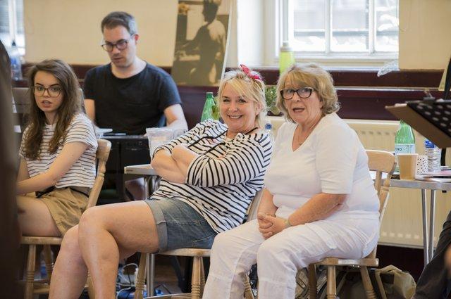 Fern Britton & Pauline Daniels in rehearsals for Calendar Girls The Musical credit Matt Crockett.jpg