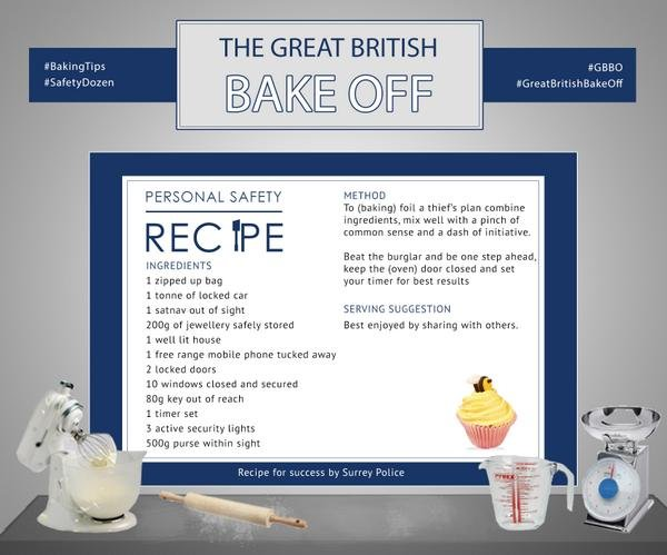 great british bake off surrey police