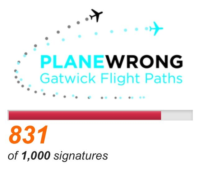 Surrey locals campaign to change to flight paths north of Gatwick Airport