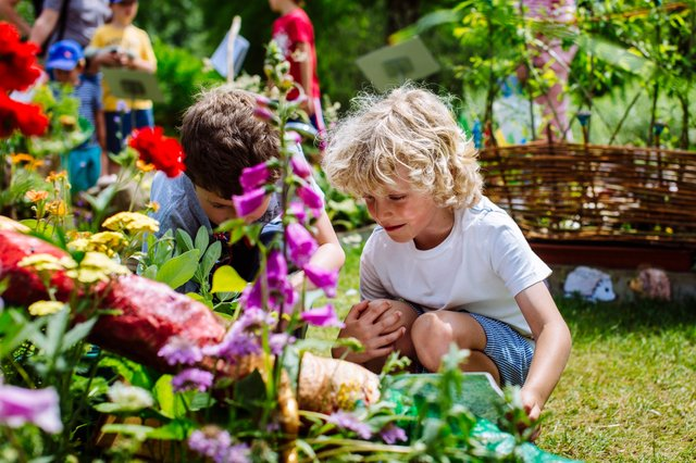 Children enjoying the Family Gardening Festival at RHS Garden Wisley ∏RHS. Cred Line Helen Yates.jpg
