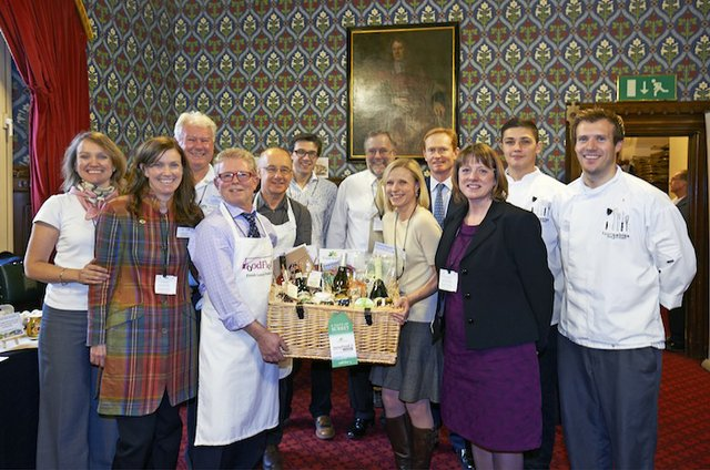 Waiting for the PM with the Local Food Surrey hamper.jpg