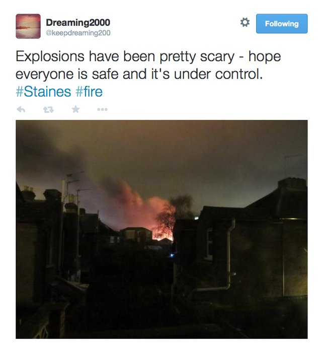 explosion in staines