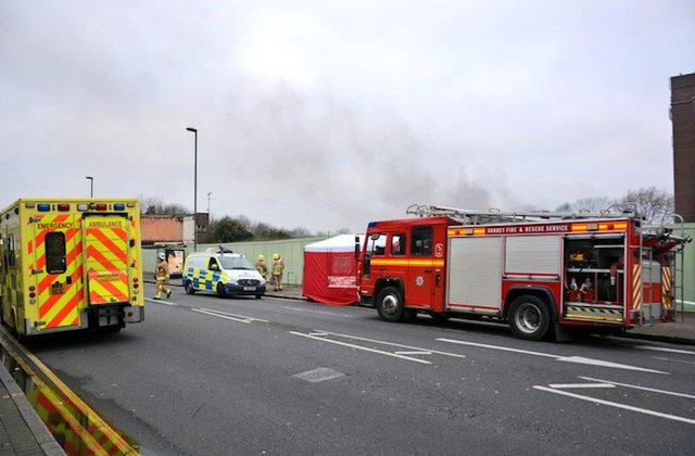 fire in staines