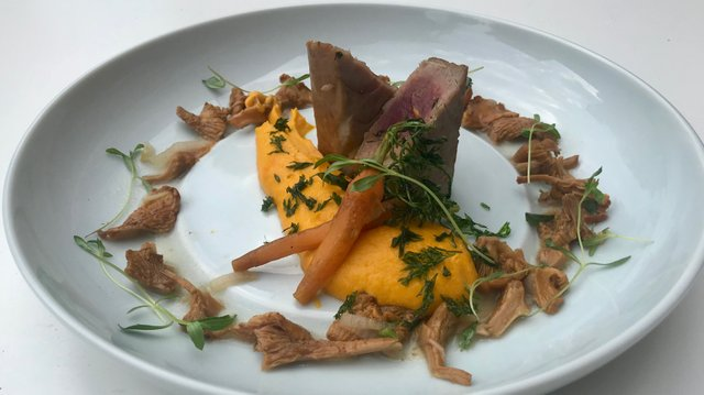 3. Tuna tarragon carrot and girolles IMG_4520.jpeg