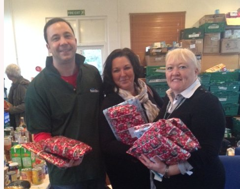 social workers deliver Christmas spirit to Epsom children