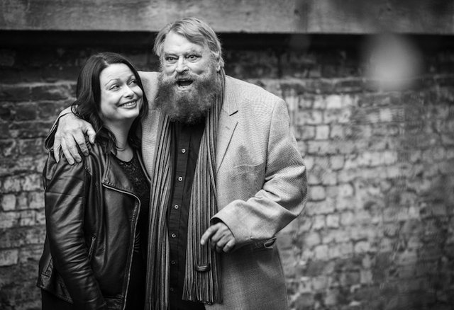 Brian Blessed and daughter in King Lear