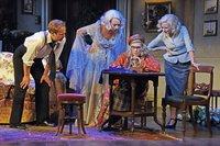 Geoffrey Streatfeild (Charles), Emma Naomi(Elvira), Jennifer Saunders (Mme Arcati), Lisa Dillon (Ruth)Ôö¼-«nc-Blithe Spirit-179.jpg