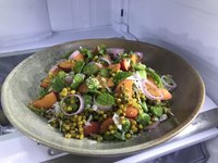 Salad of Broad Beans, Apricots & Giant Cous Cous.JPG
