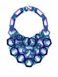 (1) Shelby Fitzpatrick, 3-strand Perspex hexagon necklace blue violet azure, photo Shelby Fitzpatrick.jpg