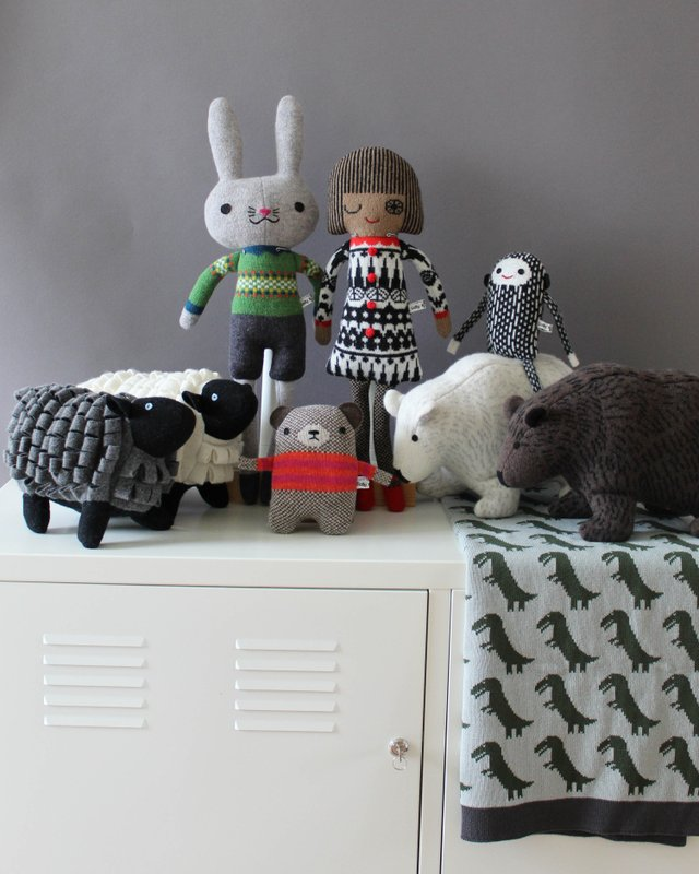 Knitted lambswool Animals, Dolls Blankets and Hats by Sally Nencini.jpg