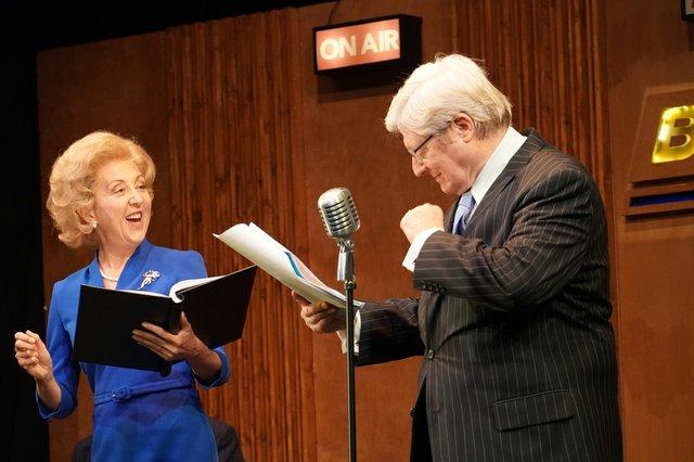 Clare Bloomer (Margaret Thatcher) and Martin Jarvis (Sir Edward Heath).jpg