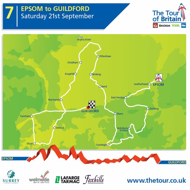 Tour of Britain map