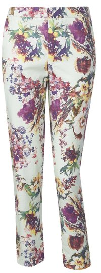 Purple print trousers