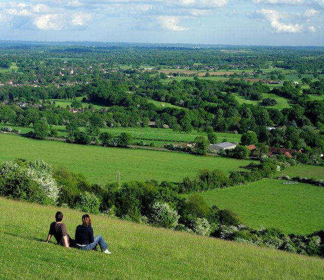 Hilltop view: Box hill, near Dorking
